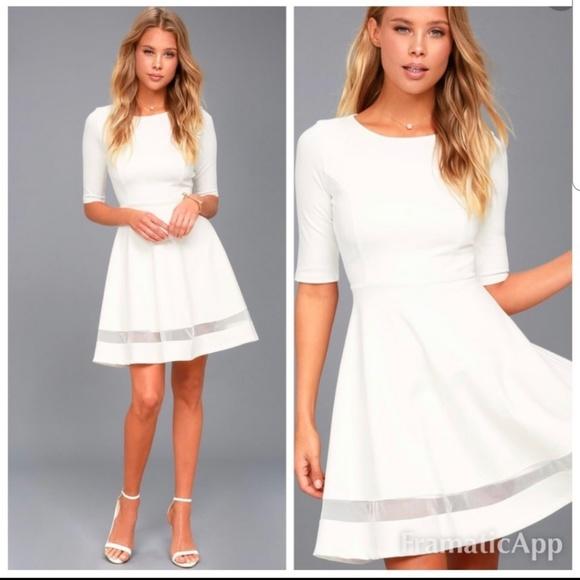d4391368c209 Lulu's Sheer Factor White Mesh Skater Dress. M_5d0790732eb33f0afb1e4062
